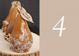 Caramel coated pears