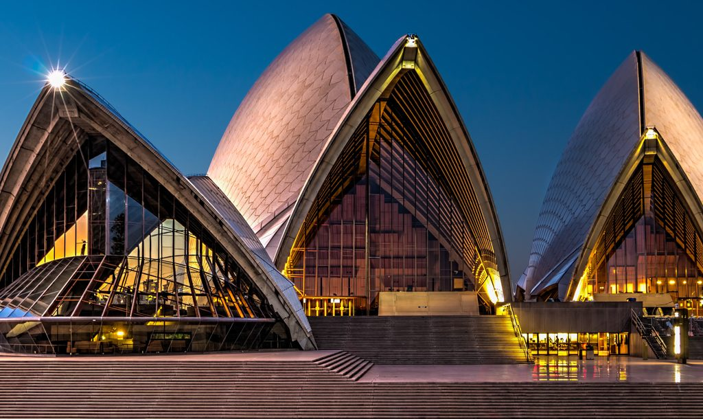 The sails of the Sydney Opera House