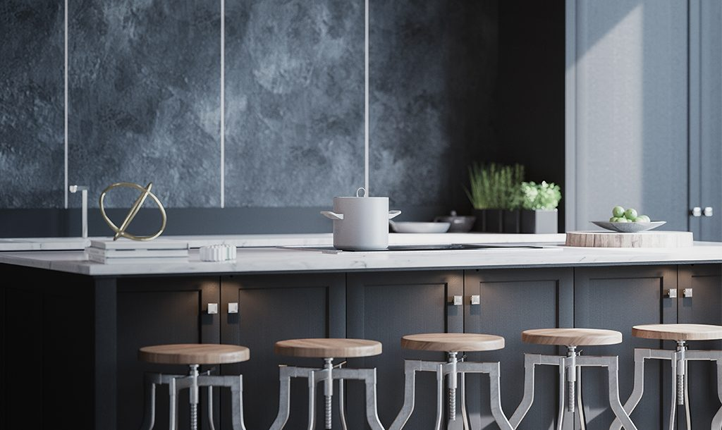 Picture of a renovated kitchen